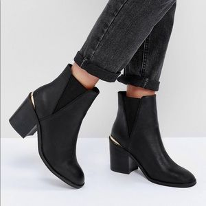 ASOS Heeled Boots Black